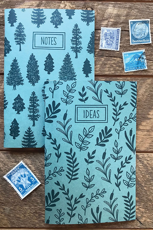Noteworthy Paper & Press <p>Trees & Leaves Pocket Notebook Set</p>