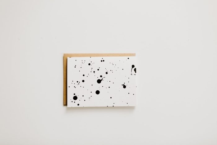 Hazel + Dolly Splatter Letterpress Notecard