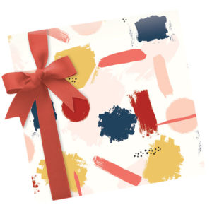 Dahlia Press Paint Swash Giftwrap