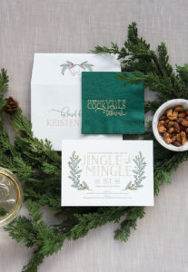 Haute Papier holiday party invitation