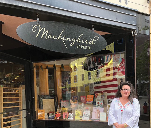 Mockingbird Paperie exterior image with owner