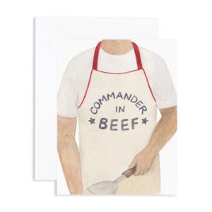 Commander in Beef Apron Father's Day Card from Amy Zhang
