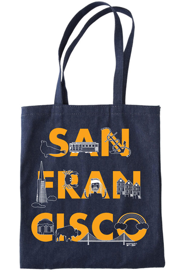 San Francisco Denim Tote by Maptote