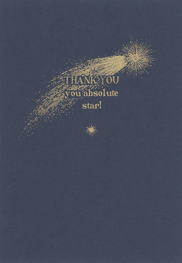 Shooting Star Thank-you from Notes & Queries