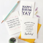 Steel Petal Press Birthday YAY Card