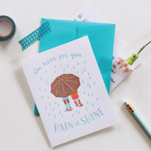 Rain Showers Card from Smudge Ink
