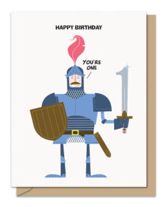 One Knight Birthday Card from Maginating