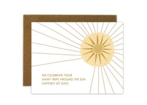 Trips Around the Sun Card from Quite Lines Design