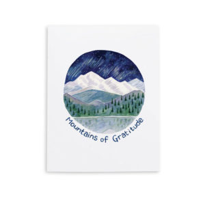 Mountains of Gratitude Card from Yardia