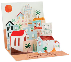 Places 3D Pop-up Card from Up With Paper