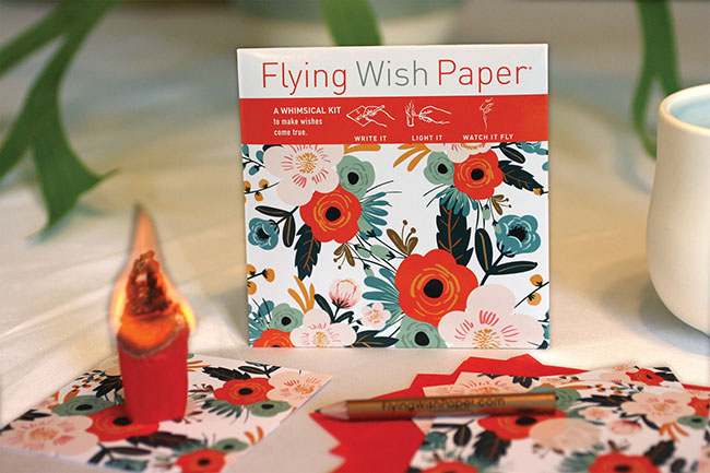 Orange Blossoms Wishing Activity Kit from Flying Wish Papers