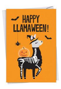 Happy Llamaween Card from NobleWorks