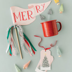 Merry Party Pennant and Perfect Tree Acrylic Stir Sticks and Gift Tags from Cami Monet