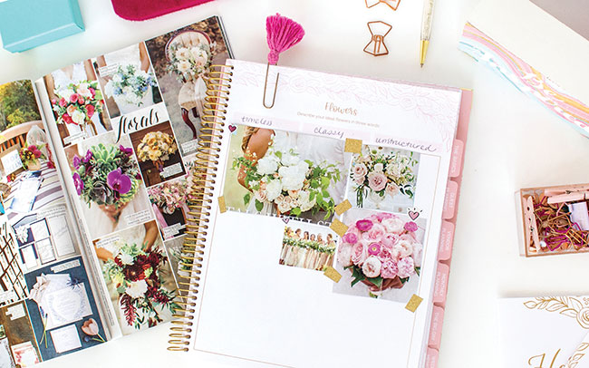 Gold Floral Wedding Planner from bloom daily planners